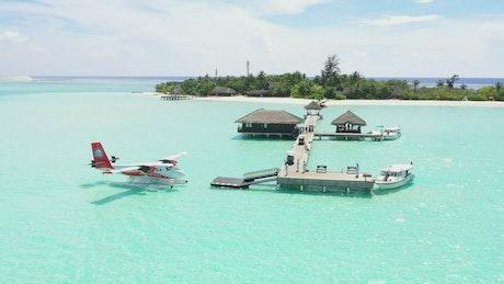 Paradise port on an island