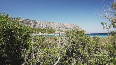 Paradisiacal tourist bay