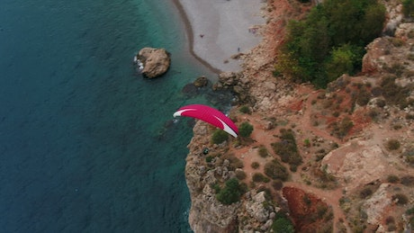 Paragliding down the coast