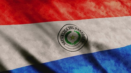 Paraguay flag moved by the wind
