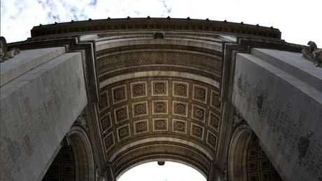 Paris Triumph Arch from below