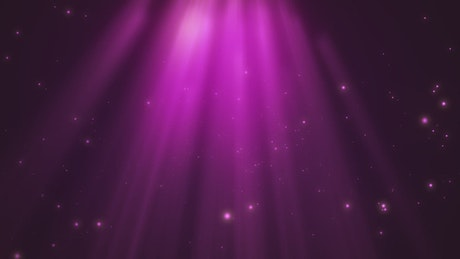 Particles and purple light, title background shot