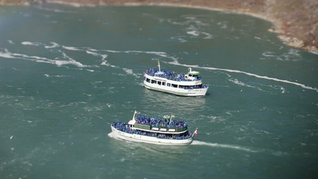 Passenger boats on the Niagara river