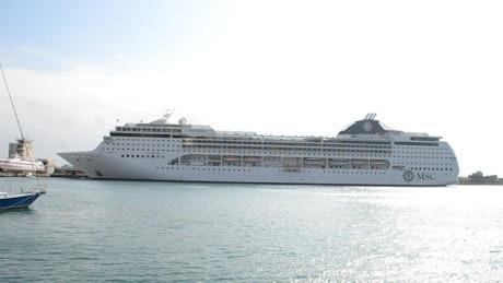 Passenger ship before departure
