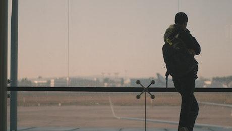 Passenger waiting for a flight