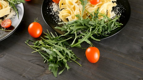 Pasta and vegetable dishes