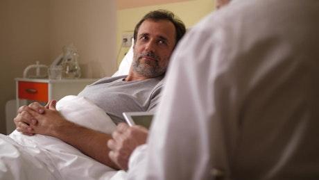 Patient hearing good news after an MRI