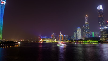 Pearl River in Guangzhou at night
