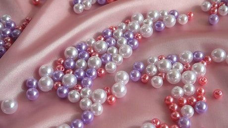Pearls on silk