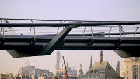 Pedestrian bridge in London