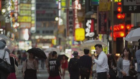 Pedestrian walk in Tokyo