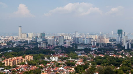 Penang cityscape in daytime