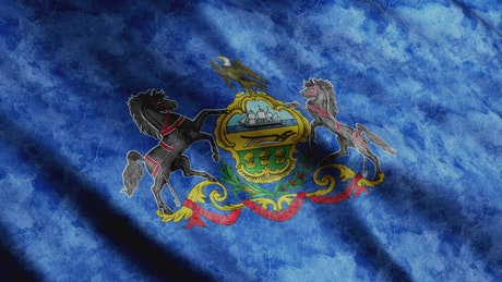 Pennsylvania State flag from USA