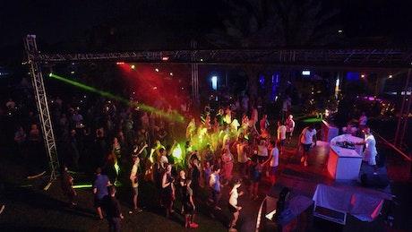 People dancing at the nightclub