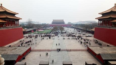 People in Tiananmen Square in Beijing