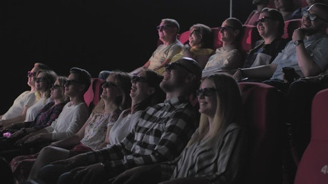 People watching a 4D film