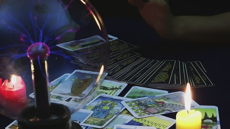 Person reading the tarot