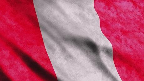 Peru country flag in America