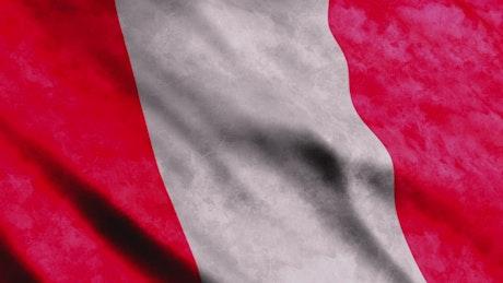 Peru flag, render texture