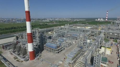 Petroleum processing refinery
