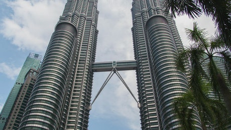 Petronas twin towers from below