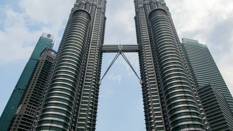 Petronas twin towers in daylight