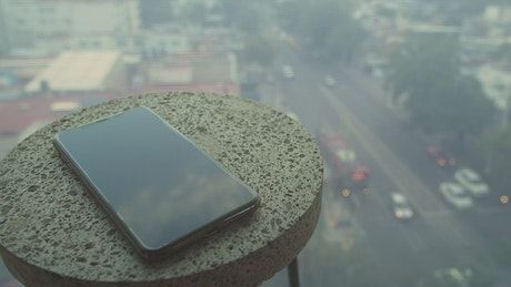 Phone on round end table