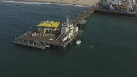 Pier on the seashore at LA Beach