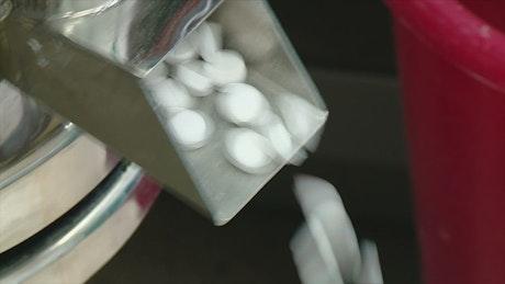 Pills in a machine