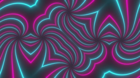 Pink and blue abstract lights, Vj loop