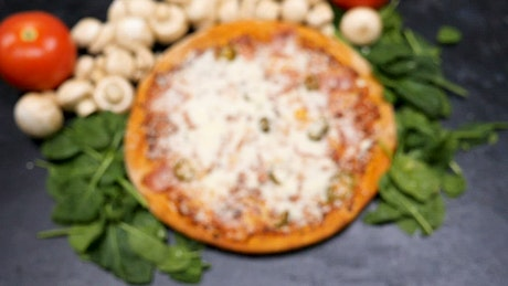 Pizza coming into focus