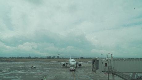 Plane on an airstrip