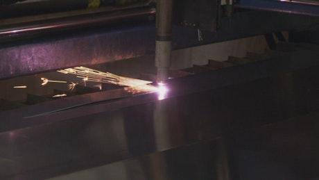 Plasma Cutter in a workshop