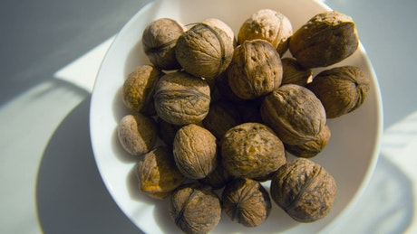 Plate of healthy nuts