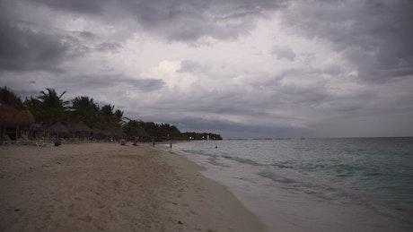 Playa Del Carmen on an overcast day