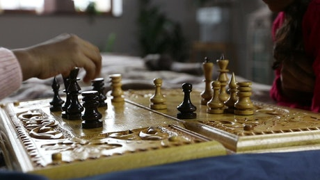 Playing a game of Chess using an old board
