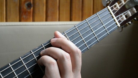 Playing a Guitar inside