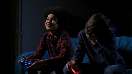 Playing a video game console