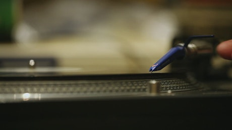 Playing an acetate record