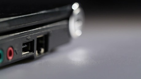 Plugging in a USB drive