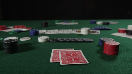 Poker player with two Kings