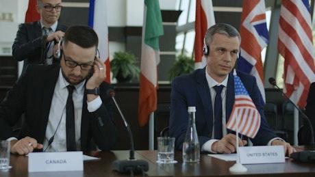 Politicians in international summit