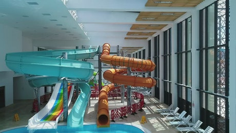 Pool slides inside