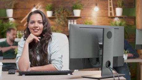 Portrait of a business entrepreneur woman
