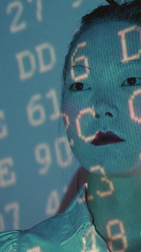 Portrait of a cyborg being prepared