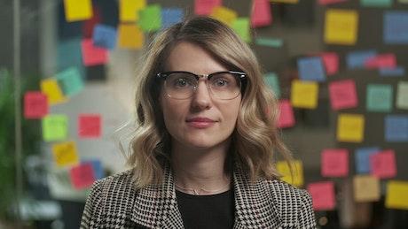 Portrait of female entrepreneur in her office