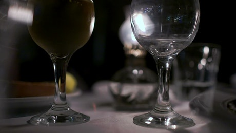 Pouring two glasses of wine