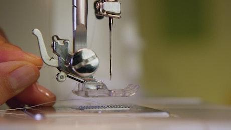 Preparing a sewing machine