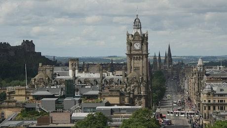 Princes Street in Edinburgh with traffic