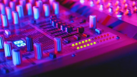 Professional audio console mixer